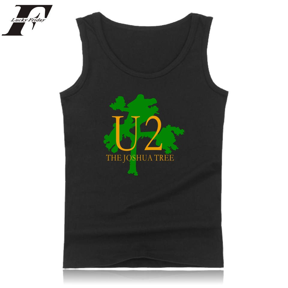 U2   Tank     Top   Men Sleeveless Summer Popular Rock Band Bodybuilding   Tank     Top   Irish Famous Hip Hop Band Black Plub Size 4XL Vest