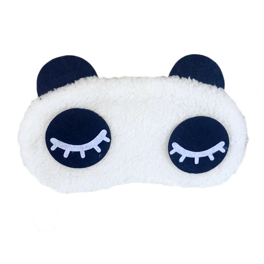 1 PC Baru Portable Tidur Masker Mata Topeng Pelindung Mata Penutup Mata Beludru Kartun Lucu Panda Perjalanan Tidur Penutup Mata Penutup Mata