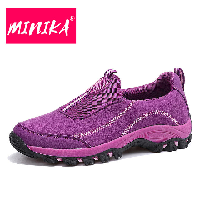 MINIKA Durable Women Flat Shoes Free Shipping High Quality Platform Shoes Women Slip on Spring and Autumn Women Loafers Shoes