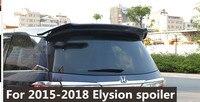のための 2016 に 2018 honda エリシオンプライマー黒または白の色ペイント用リアトランクスポイラー honda エリシオンリアウイングスポイラー