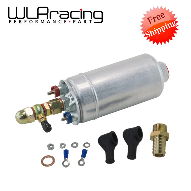 Free shipping  External Fuel Pump 0580 254 044 FUEL PUMP WITH BANJO FITTING KIT HOSE ADAPTOR UNION 8MM OUTLET TAIL WLR FPB044R|pump pump|pump fuel|pump kit - title=