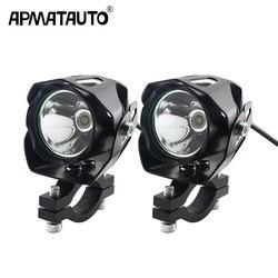 2x mini tamanho da motocicleta elétrica antinieble led farol 6 w 6000 k moto spotlight condução luz de cabeça do ponto da lâmpada de nevoeiro 12 v-85 v