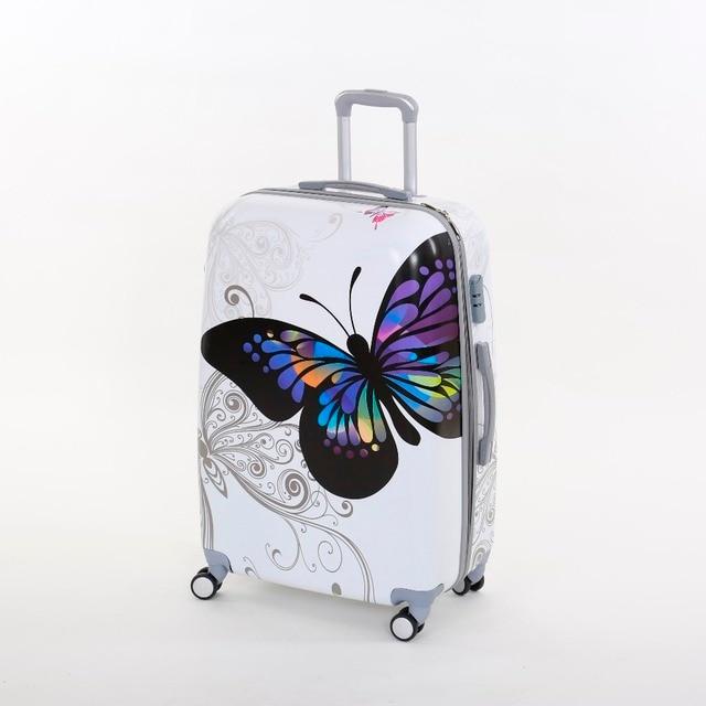 a0b9cd142 Al por mayor! corea moda Femenina pc equipaje de la carretilla de la  mariposa conjuntos, ...
