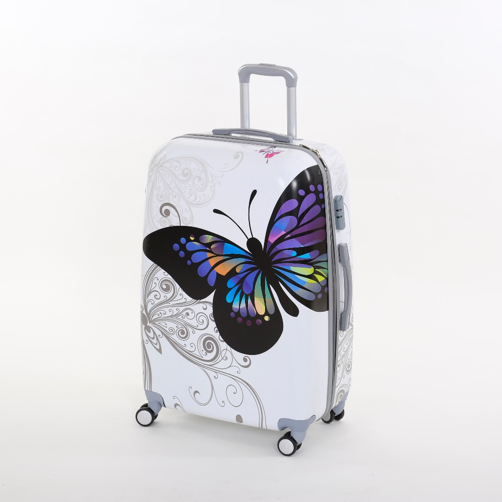 453b79279 Wholesale!Female korea fashion pc butterfly trolley luggage sets,28inches  butterfly travel luggages for women,14 28girl bag sets-in Luggage Sets from  ...