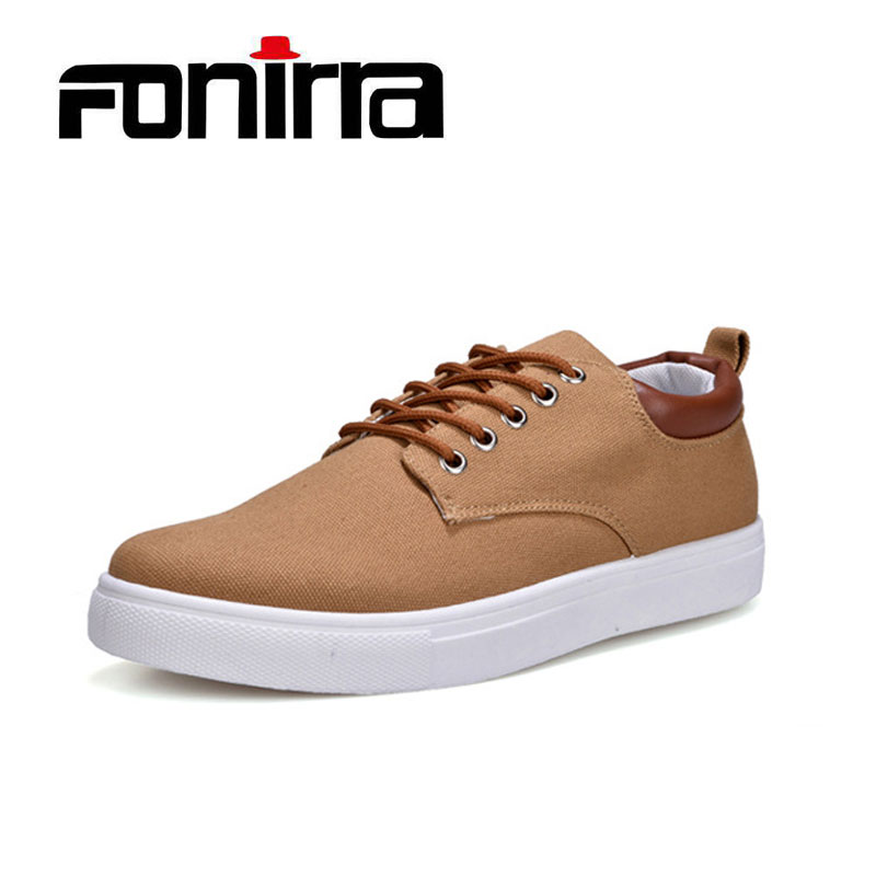 FONIRRA New Arrival Spring Summer Comfortable Casual Shoes Men Canvas Shoes For Men Lace ...