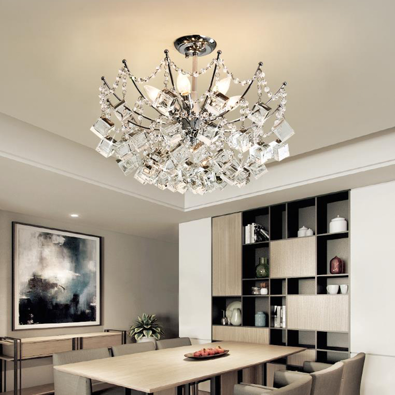 New-Classical crystal Pendant Lights Art Deco magic ice cube crystal hanging lights Modern living room dinning room Pendant Lamp free shipping modern led crystal pendant lamps crystal pendant lights round rings stainless steel dinning living room lights