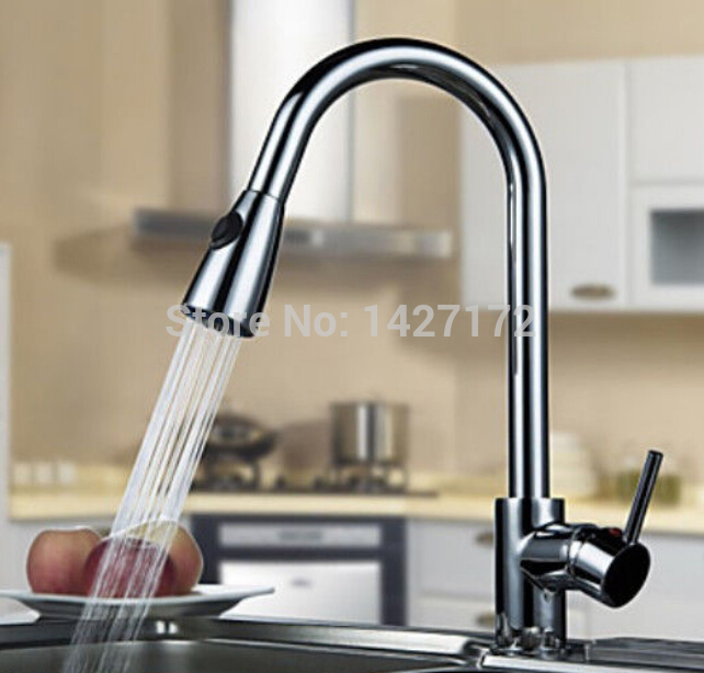 ᑐcontemporary Hot Sale New Polished Chrome Brass Kitchen Faucet