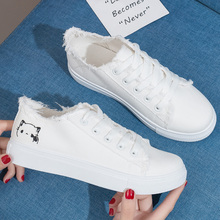 Women Sneakers 2018 Fashion Women Vulcanized Shoes Sneakers Ladies Lace-up Casual Shoes Breathable Walking Canvas Shoes