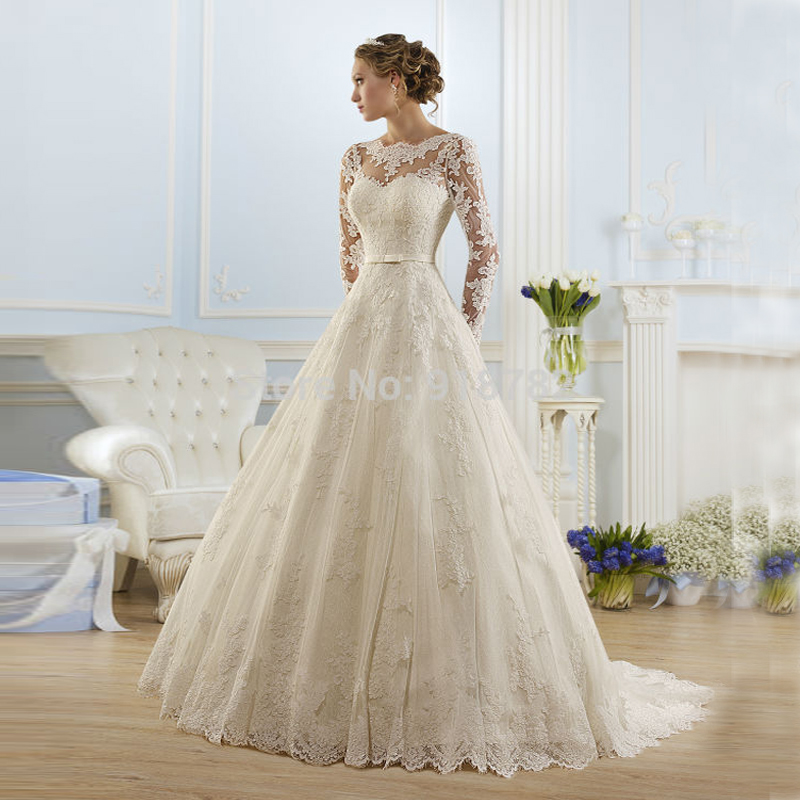 Buy 2016 hot sale beautiful lace wedding for Where to buy yasmine yeya wedding dresses