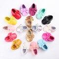 New Baby Infant Toddler Lindo Suave Suela PU Zapatos Bowknots Borlas de Cuero Mocasín Zapatos Primeros Caminante 0-18 Meses