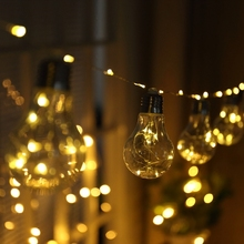 10Led Fairy Transparent Copper Wire Bulb Battery Operated String Lights 4.5m LED Decor For Christmas Garland New Year gerlyanda