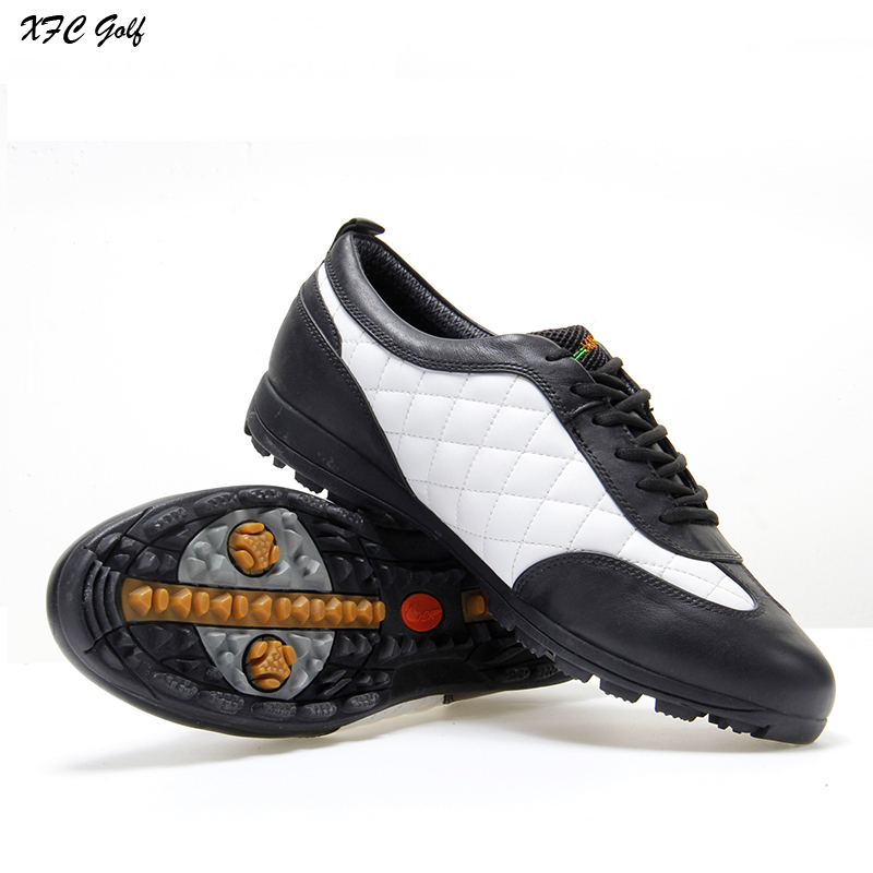 Brand golf shoes Men waterproof Genuine Leather fitted nail male sport shoes High Quality golf sneakers zapatos de golf polo authentic high quality golf gun bags pu waterproof laoke lun men travelling cover 8 9 clubs 123cm golf bolsa de sport bag