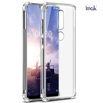 d44f73d2ae1 Para Nokia 8,1 Funda de cristal Coque Nokia 6,1 Plus funda de silicona  transparente carcasa trasera para Nokia8.1 cubierta Nokia6.1 6,1 más X7 X6