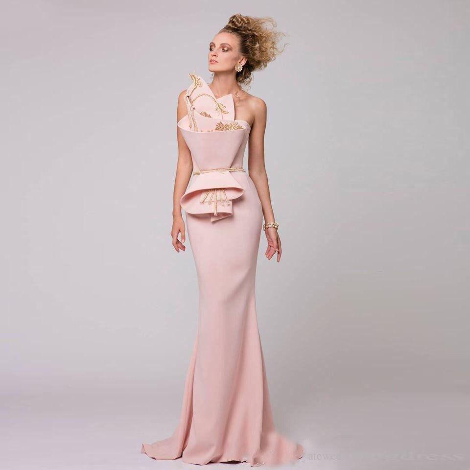 Robe De Soiree Mermaid Pink Dress Off Shoulder Vestido de noche ...