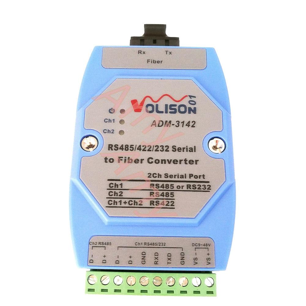 Light industrial serial cat RS485/422/232 two-way data transmitter 485 SC dual fiber optical transceiver