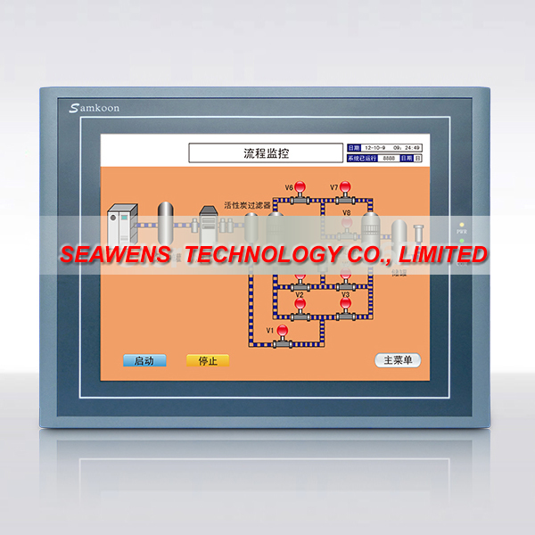 SA-12 : 12.1 inch HMI touch Screen Samkoon SA-12.1A with programming cable and software, FAST SHIPPING dop b03s211 deita 4 3 inch hmi touch screen panel with programming cable and software fast shipping