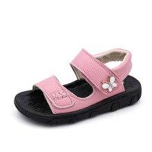 KINE PANDA Sommer Kinder Schuhe Mädchen Jungen Sandalen Strand Kleinkinder Echtes Leder Kleinkind Jungen Weiche Sandalen Anti-slide 0-6Y