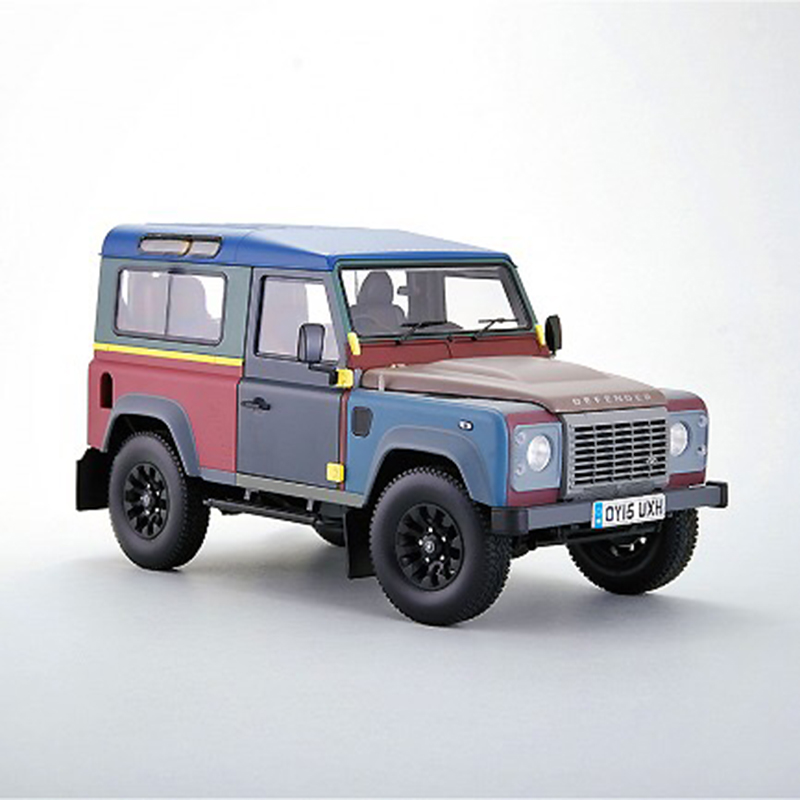 Diecast Car Model for Almost Real Land Rover Defender 90 Paul Smith Edition 1 18 SMALL