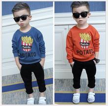 2016 Fall new boys T – shirts lengthy – sleeved kids 's sweater Hooded Korean model of the T – shirt kids shirt