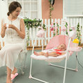 nice baby electric music rocking chair hot mom's best choice pink child rocking chair press one button to fold easy to operate