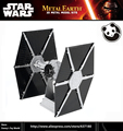 JWLELE@Classic toy Same style Star Wars TIE FIGHTER  Colour white black 3D Metal Model Etching puzzle Assembling DIY