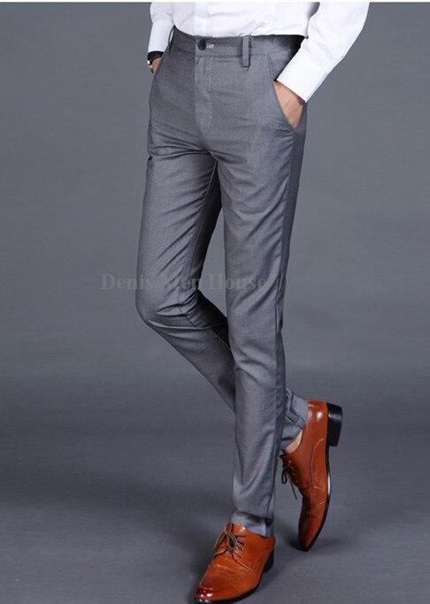2018 Männer Anzug Hosen Männer Slim Fit Kleid Hosen Büro Hosen Männer Große Größe Business Männer Büro Hosen Waren Des TäGlichen Bedarfs