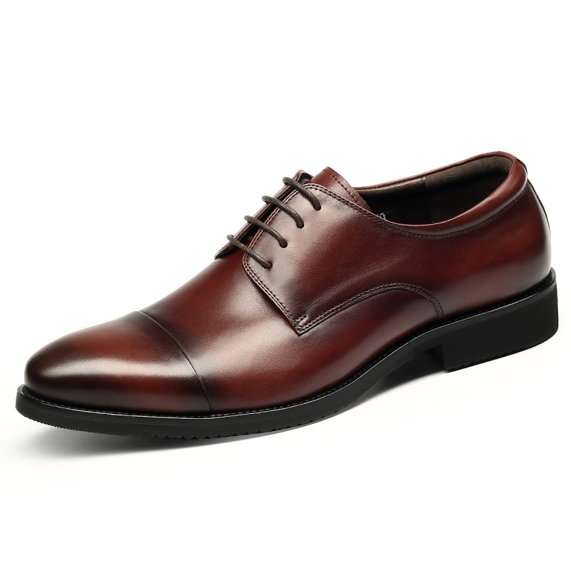 All Season High-grade Men Dress Genuine Leather Shoes First Layer of Leather Wear-Resistant Deodorant Brock Men's Wedding Shoes the first layer of leather shoes and a pedal comfort all match full leather comfortable foot leather bottomed women shoes