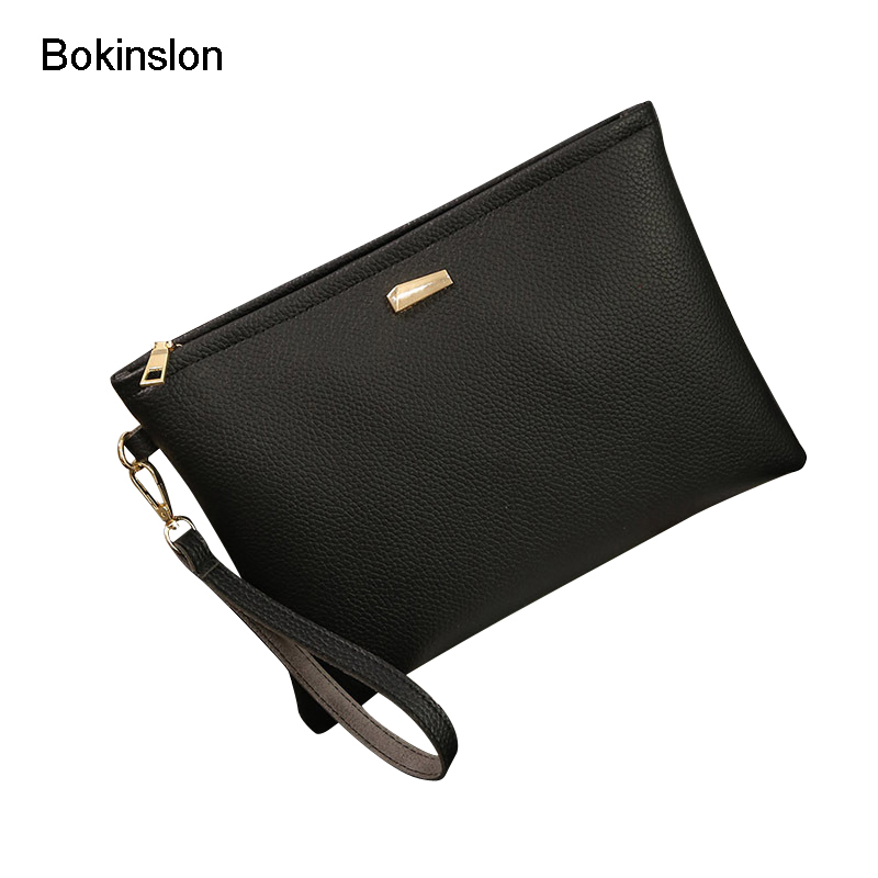 Bokinslon Fashion Woman Bags PU Leather Solid Color Women Crossbody Bags Simple Practical Female Shoulder Bags