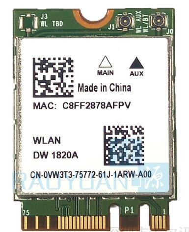 For Broadcom BCM94350ZAE DW1820A DW1820  802.11AC 867Mbps+Bluetooth 4.1 NGFF M.2 Wireless Card Less Than DW1560