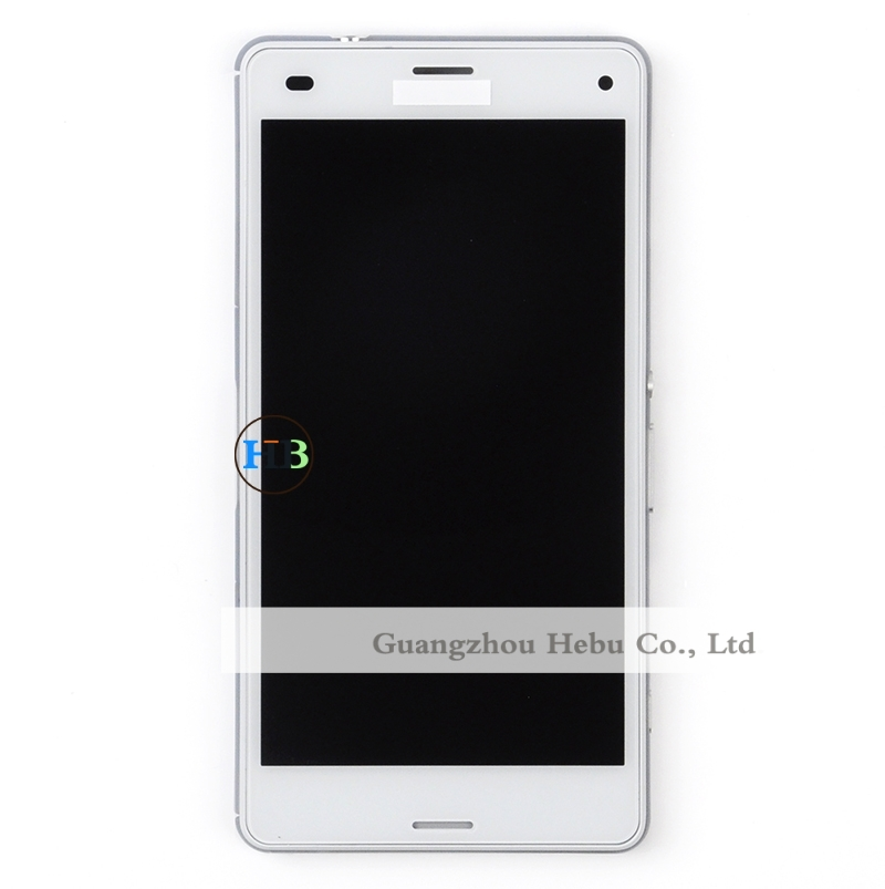 Brand New 20pcs Free DHL For Sony Xperia Z3 Compact Z3 Mini LCD Display Screen With Touch Digitizer With Frame Replacement