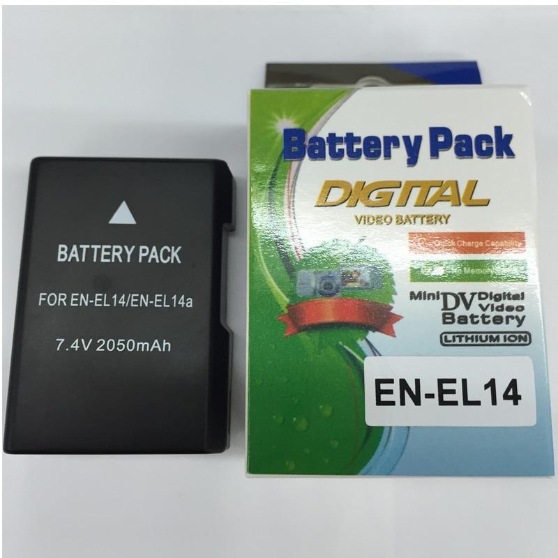 EN-EL14 EN EL14a batteries au lithium ENEL14 appareil photo Numérique batterie Pour Nikon P7800 P7700 P7100, D3400 D5500 D5300 D5200 D3200 D3300