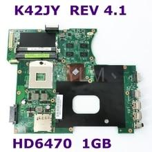K42JY HD 6470 M 1 ГБ Материнская плата Asus X42J A42J Материнская плата ноутбука REV4.1 60-N1YMB1100-B23 100% тестирование работает хорошо бесплатная доставка