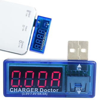 1pc Smart Electronics Digital Doctor Voltmeter Ammeter USB Mobile Power Charging Current Voltage Tester Meter Mini USB Charger Voltage Meters