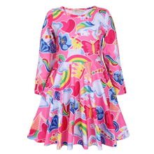 2019 Baby Girls Dress Unicorn Costume for Kids Children Party Dresses flamingo Clothes kids Princess Dress 2018 new summer children hello kitty cartoon princess dress costume for baby girls clothes party dresses kids cat dress 3 10y