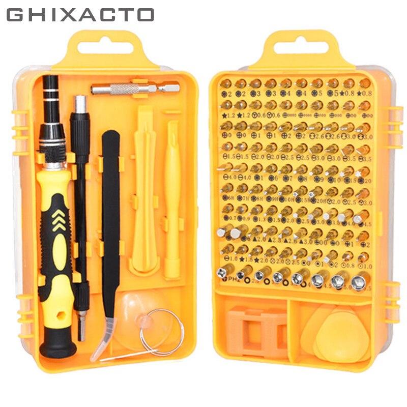 Atualizado 110 em 1 conjunto de ferramentas de chave de fenda multi-função ferramenta de manutenção pinça repaire conjunto de ferramentas para notebook relógios celulares