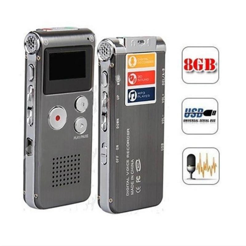 Digital Voice Recorder Ordentlich 8 Gb Hohe Qualität Digital Audio Sound Voice Recorder Mini Usb-vocie Aufnahme 650hr Diktiergerät Mp3 Player Ein BrüLlender Handel Unterhaltungselektronik