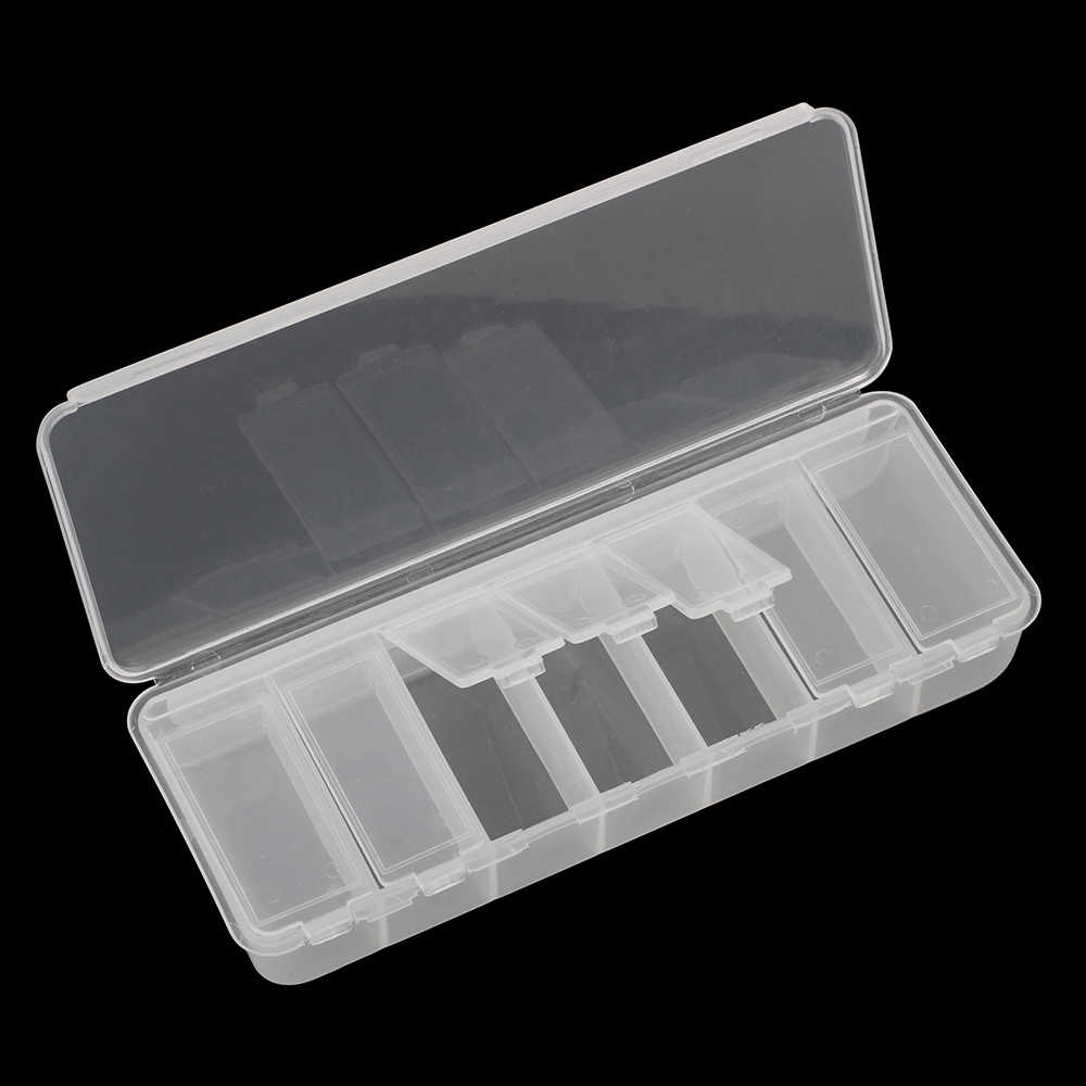 DIYWORK Independent Cover Tool Packaging 7 Grids Tool Box Electronic Components Screw Storage Jewelry Storage Case
