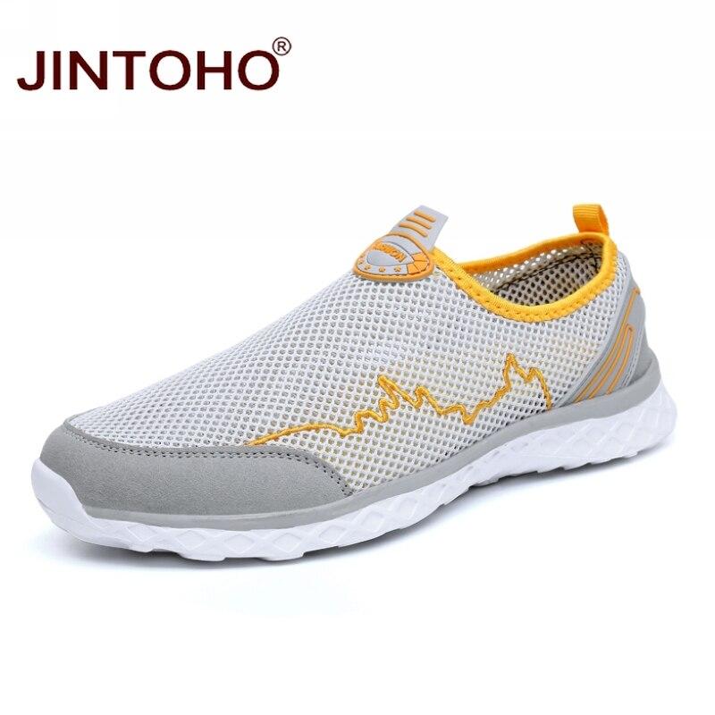 100% QualitäT Jintoho Große Größe Sommer Atmungsaktives Mesh Männer Casual Schuhe Marke Mode Männer Schuhe Casual Erwachsenen Männlichen Schuhe Günstige Männer Turnschuhe Rabatte Verkauf