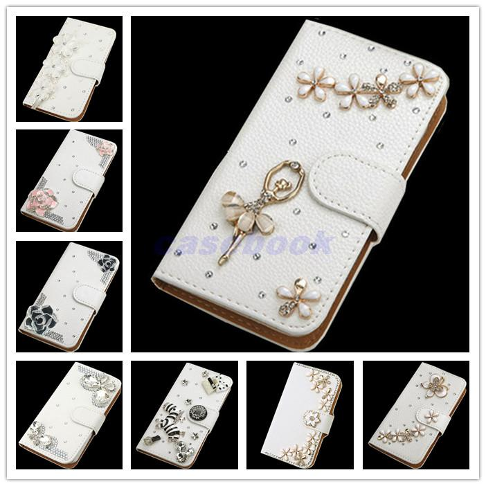 For Doogee X5 max NEW fashion Crystal Bow Bling Tower 3D Diamond Glitter Wallet Leather Cases
