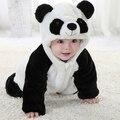Envío Gratis Nuevo Cute Panda Animal de Una Pieza de Manga Larga de Algodón Mameluco Del Bebé Recién Nacido Traje Ropa Ropa