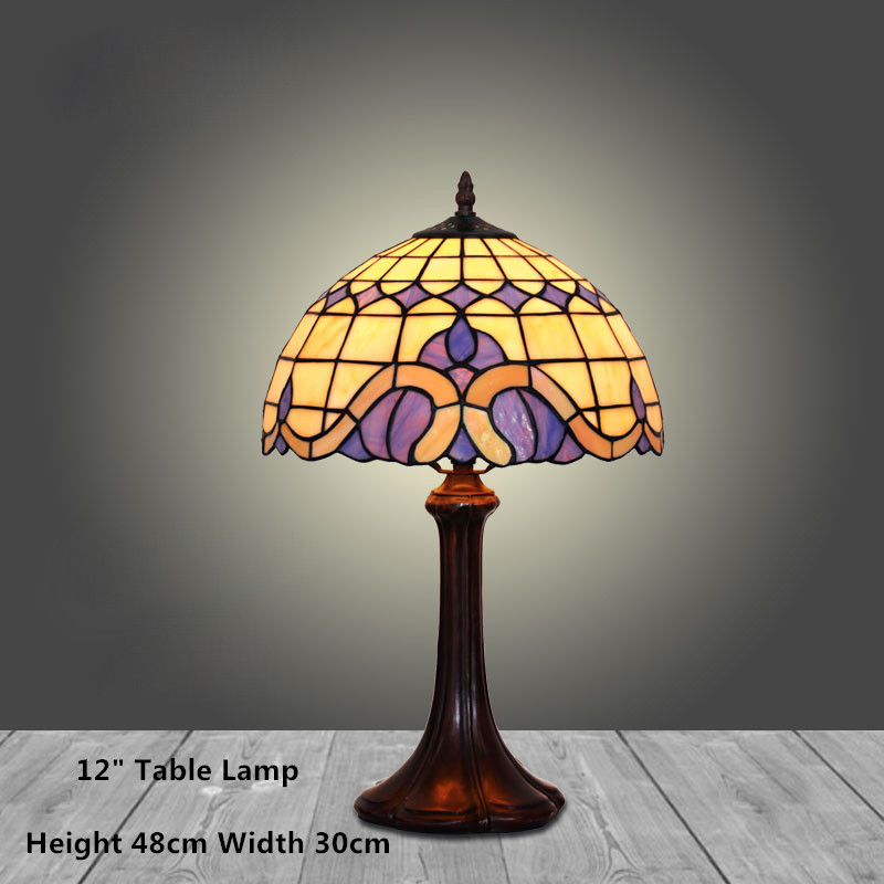 Fumat stained glass table lamp european style bedside lamp art glass fumat stained glass table lamp european style bedside lamp art glass shade living room stand lampe led warm white table lights in led table lamps from aloadofball Image collections