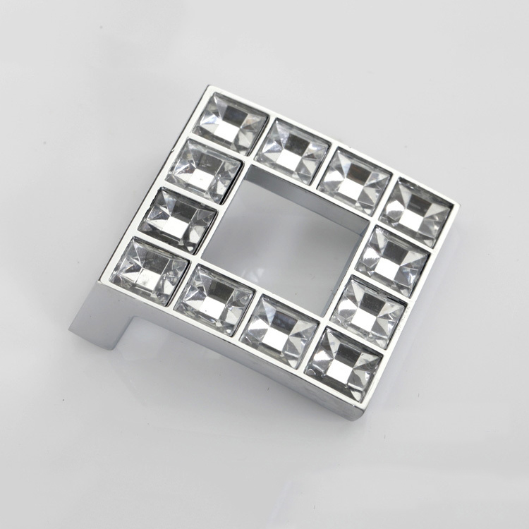 Lot of 10pcs/48mm K9 Crystal Glass Fashion high quality zinc alloy furniture handle Knobs Cabinet Door Handle (Sizes: 48mm*48mm) dietary addition of zinc sulphate
