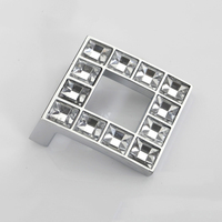 Lot Of 10pcs 48mm K9 Crystal Glass Fashion High Quality Zinc Alloy Furniture Handle Knobs Cabinet