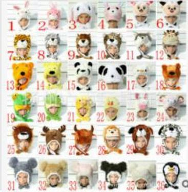 Promotion ! New WINTER Cartoon Animal Hat Fluffy Plush Cap Unisex best Novelty gift for boy girl friend With Ear Flap the new children s cubs hat qiu dong with cartoon animals knitting wool cap and pile