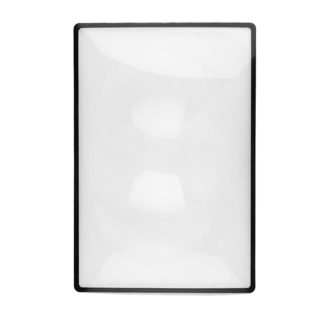 ACEHE 180X120mm Lupa Pohodlné A5 Ploché PVC List X3 Kniha Stránka - Měřicí přístroje - Fotografie 5