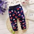 Inverno quente crianças roupas de bebê crianças meninas princesa de lã além de veludo da menina calças de comprimento total calças Slim Legging S1876