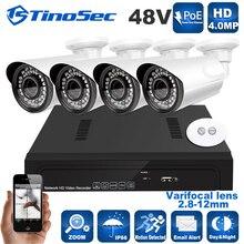 8CH 4 UNIDS 1080 P 4.0MP Kit POE Full HD de Onvif 1080 P 48 V Real PoE NVR Grabador de Vídeo CCTV Sistema de Cámaras IP PoE P2P Cloud Service