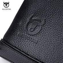 BULLCAPTAIN Men's Leather Briefcse for Business Fashion Famous Brand Soft Handle Tote Shoulder Bag 15 Inch Laptop Bag BU62