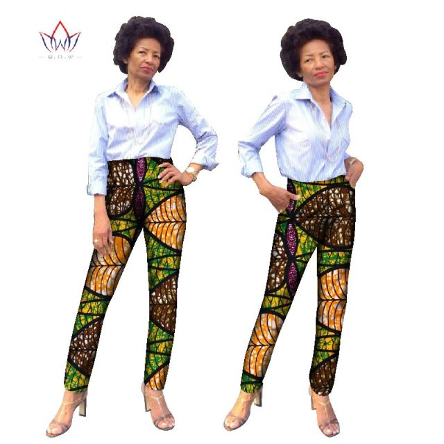 87ffd50a0d1 Trousers Women African Print Cotton Pant Pockets Plus Size 6xl African  Women Pants Casual Regular Pencil Pants WY836