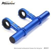 AloneFire BC01 Professional Bike Bicycle Flashlight Holder Handle Bar Front Light Extender Mount Bracket Double Tube
